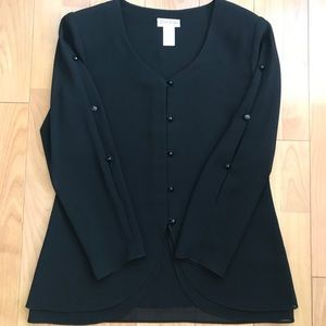 Black formal blouse for special occasion size 6